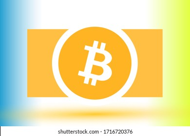 Bitcoin sign for cryptocurrency exchangers of crypto exchange and crypto wallets