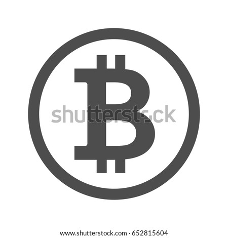 Bitcoin Sign Icon Internet Money Crypto Stock Vector Royalty Free
