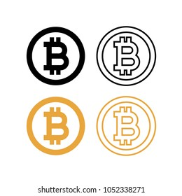 bitcoin simple flat vector icon illustration crypto currency blockchain flat logo isolated on white background
