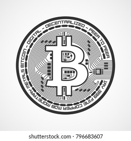 Bitcoin symbol. Cryptocurrency concept. Financial concept Virtual money