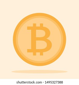 Bitcoin symbol,  Bitcoin is crytocurrency create in new technology, Bitcoin vector for web design.