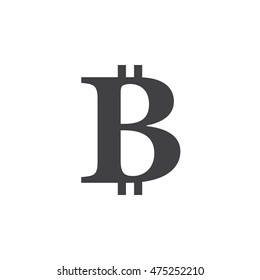 Bitcoin symbol. vector icon, solid logo illustration, pictogram isolated on white