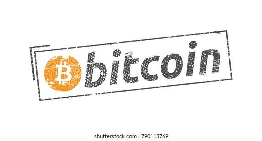Bitcoin symbol vector stamp