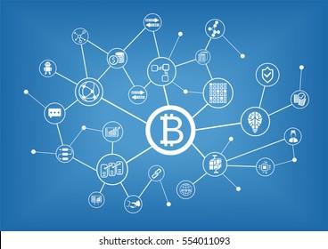 Bitcoin vector illustration background