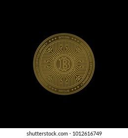Bitcoin Vector Illustration Digital Cryptocurrency