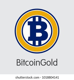 BitcoinGold - Cryptocurrency Logo.