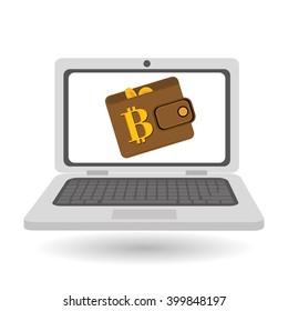 Bitcon icon design, vector illustration