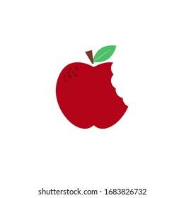 Bitten apple icon. Basic healthy food icon.