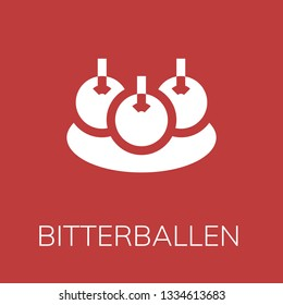 Bitterballen icon. Editable  Bitterballen icon for web or mobile.