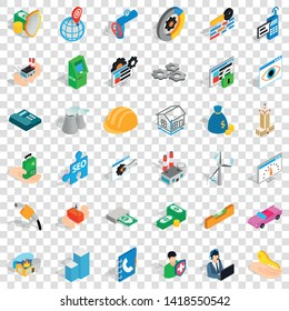 Biz icons set. Isometric style of 36 biz vector icons for web for any design