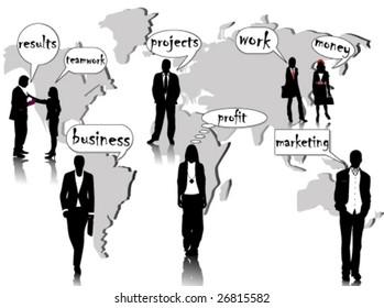biz people and words