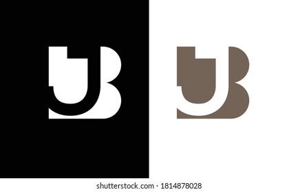 BJ ,JB ,B,J  Abstract Letters Logo Monogram