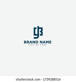 BJ, JB Letter Logo Design Template Vector