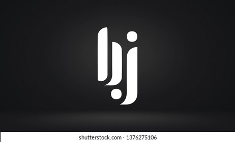 BJ logo design template vector illustration