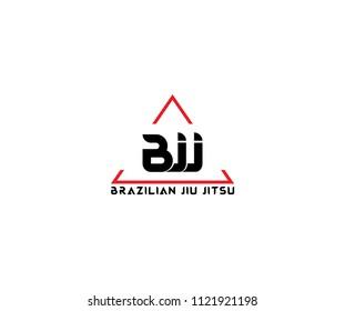 BJJ Brazilian Jiu Jitsu Triangle Line Logo Template
