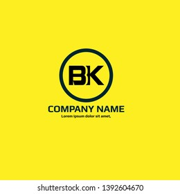 BK company linked letter logo concept. Designed for your web site design, logo, app, UI. initial logo design