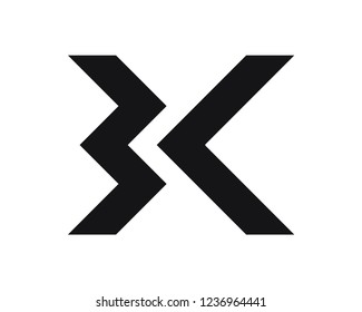 BK initial geometric logo
