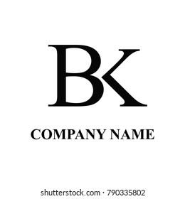 Bk initial logo design