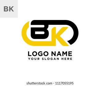 BK initial logo template vexctor