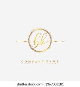 BK Initial luxury handwriting logo vector