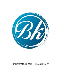 BK initial splash logo template vector