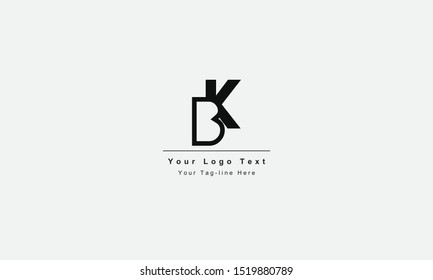 BK or KB letter logo. Unique attractive creative modern initial BK KB B K initial based letter icon logo