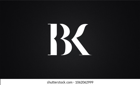 BK Letter Logo Design Template Vector