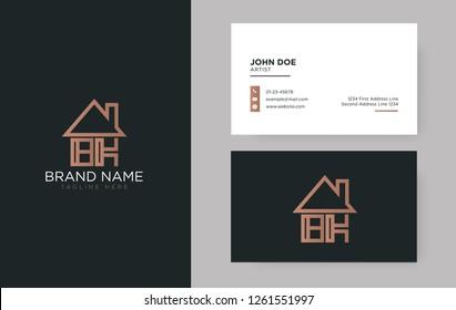 BK Letter Real Estate Logo Design - Real estate logo