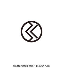 bk letter vector logo
