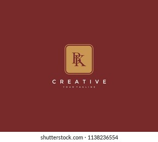 BK linked isolated square elegant logo