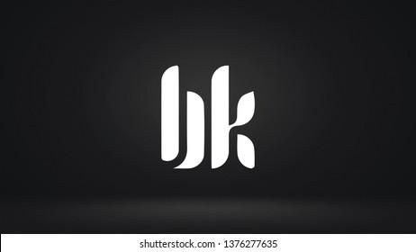BK logo design template vector illustration