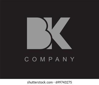 BK Logo. Letter design vector