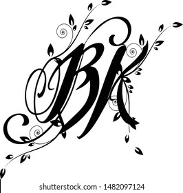 BK text logo. This clipart is very useful for graphics designer, tattoo artist & Offset printers.