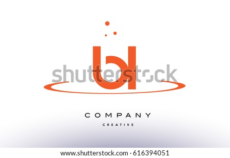 Bl B L Creative Orange Swoosh Stock Vector Royalty Free 616394051