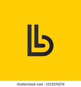 BL or B L letter alphabet logo design in vector format.