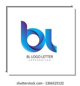 bl circle lowercase design of alphabet letter combination with infinity suitable as a logo for a company or business - Vector