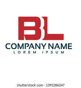 BL company linked letter logo concept. Designed for your web site design, logo, app, UI. BL initial logo design. corporate identity logo. can be used for bussines company. modern illustration.
