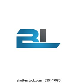BL company linked letter logo blue