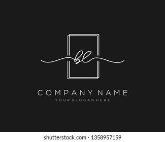 BL handwriting initial  logo vector
