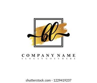 BL Initial handwriting logo concept