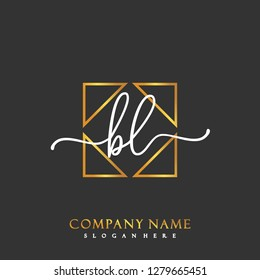 BL Initial Handwriting logo template vector