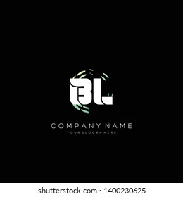 BL initial letter abstract logo design vector.