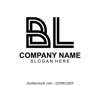 BL Initial outline logo template vector