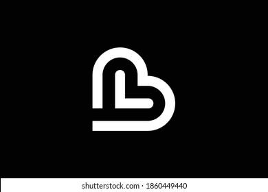 BL letter logo design on luxury background. LB monogram initials letter logo concept. BL icon design. LB elegant and Professional white color letter icon design on black background. L B