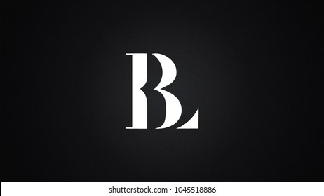 BL Letter Logo Design Template Vector