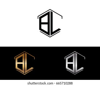 BL letters linked with hexagon shape logo