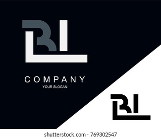 BL Logo Letter Design Template Element