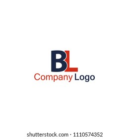 BL logo vector, simple elegant logotype for company, shop, business, etc.