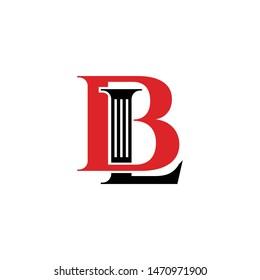 BL simple logo icon design vector