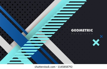 Black Abstract Background with bright stripes Pattern and luxury dynamic modern abstract vector background for presentation, report, abstract luxury cover.